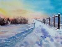 Chemin en hiver